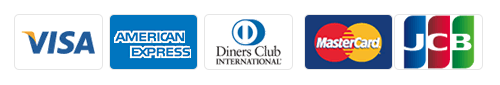 使用可能カード会社一覧 VISA AMERICAN EXPRESS Diners Club INTERNATIONAL Master Card JCB